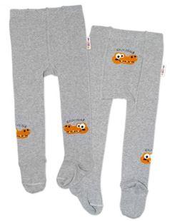 Obrázek Dětské punčocháče bavlněné, Crocodiles - šedá, hořčice, 1ks
