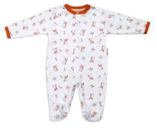 Obrázek Bavlněný kojenecký overal Teddy - bílý