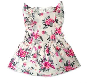 Obrázek Letní šaty s krátkým rukávem New Roses - smetanové
