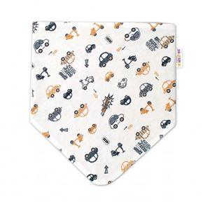 Obrázek Dětský šátek na krk Car, smetanový/ hnědý