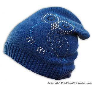 Obrázek Jarní/podzimní čepice Sovička - jeansově modrá
