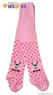 Obrázek Bavlněné punčocháče  - Beruška růžové s puntíky