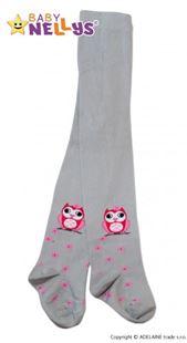 Obrázek Bavlněné punčocháče - Sovička šedé