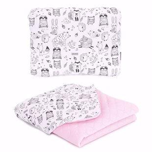 Obrázek Dětská deka s polštářem Lesní Zvířátka Velvet PIK 75x100 cm