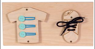 Obrázek Mini dětská tabulka vzdělávání a zábavy Bota a košile