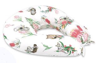 Obrázek Bavlněný kojící polštář, Exotika - bílý